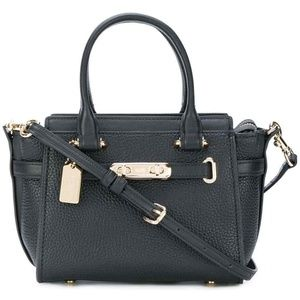 COACH 87299 SWAGGER 21 SHOULDER BAG  BLACK